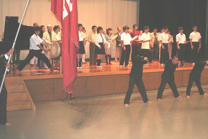 2009年9月23日の校歌祭の練習会風景